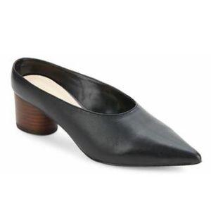 Nine West Zianne Genuine Leather Pointed Mule Heel